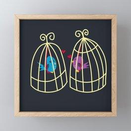 Birdcage Love Framed Mini Art Print