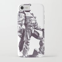 master chief iPhone & iPod Cases featuring Master Chief 117 by DeMoose_Art