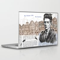 kafka Laptop & iPad Skins featuring Kafka by Nina Palumbo Illustration