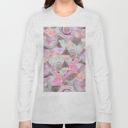 Abstract marble geo 001 Long Sleeve T-shirt