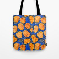 memphis Tote Bags featuring Memphis by The Patternbase