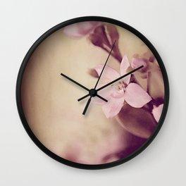 Pink Sentiments Wall Clock