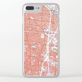Vintage Map of South Gate California (1964) Clear iPhone Case