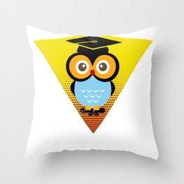 Bachelor Owl Throw Pillow