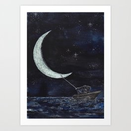 Wanderer III: Tugging the Crescent Art Print