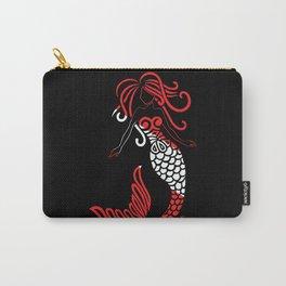 Tribal Scuba Flag Mermaid Carry-All Pouch