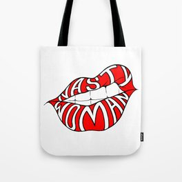 Nasty Woman - Red Lips Tote Bag