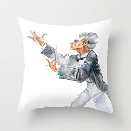 A conductor Throw Pillow