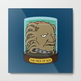 The Face of Boe Metal Print