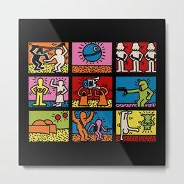 Keith Haring & star W.2 Metal Print