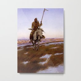 """""""A Cree Indian"""" by Charles Russell Metal Print"""