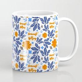 Gorgeous Blue and Orange Feminist Killjoy Print Coffee Mug