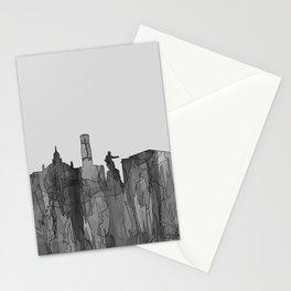 Aberdeen, Scotland Skyline - Navaho B&W Stationery Cards