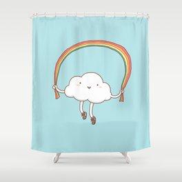 Rainbow Skipping Shower Curtain