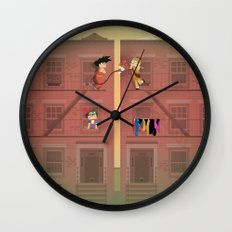The Nick Yorkers in April Wall Clock