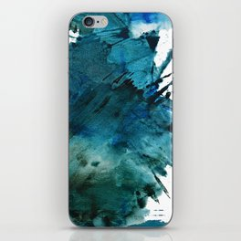 Scenic Route [2]: a pretty, minimal abstract piece in blue and green by Alyssa Hamilton Art iPhone Skin