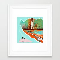 wave Framed Art Prints featuring Wave by Tharika Fuhrer