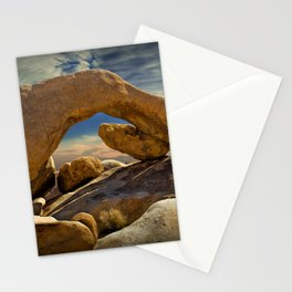 Rock Arch Formation at Joshua Tree National Park Stationery Cards