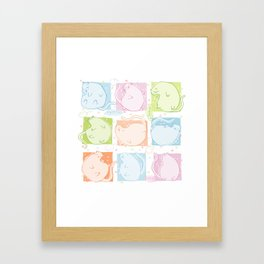 Cat Blobs Framed Art Print