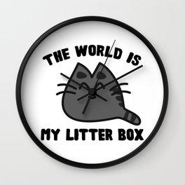 World Litter Box Wall Clock