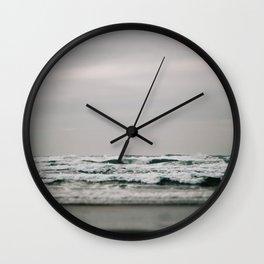 Waves Crashing on Cannon Beach Oregon Wall Clock