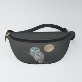 Owl, See the Moon (sq Barred Owl) Fanny Pack