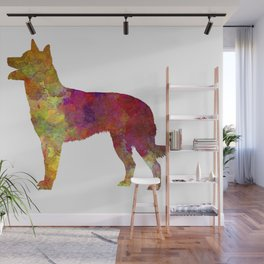 Australian Kelpie dog in watercolor Wall Mural