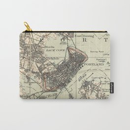 Vintage Map of Portland Maine (1914) Carry-All Pouch