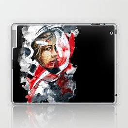 cosmonaut portrait by carographic Laptop & iPad Skin