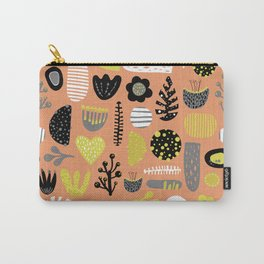 Abstract Scandinavian flowers and leaves pattern Carry-All Pouch