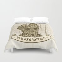groot Duvet Covers featuring Groot by Lynn Bruce