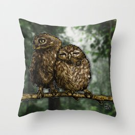 Two Birds, One Stoned Throw Pillow