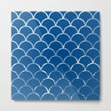 Textured large scallop pattern in snorkel blue by hereswendy