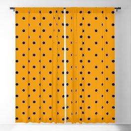 Dotted (Black & Classic Orange Pattern) Blackout Curtain