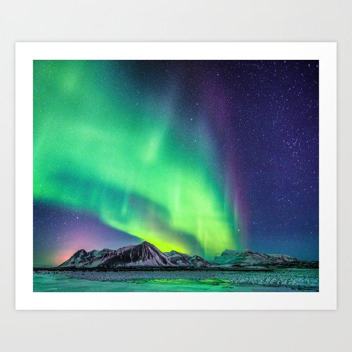 Northern Lights in Iceland Kunstdrucke