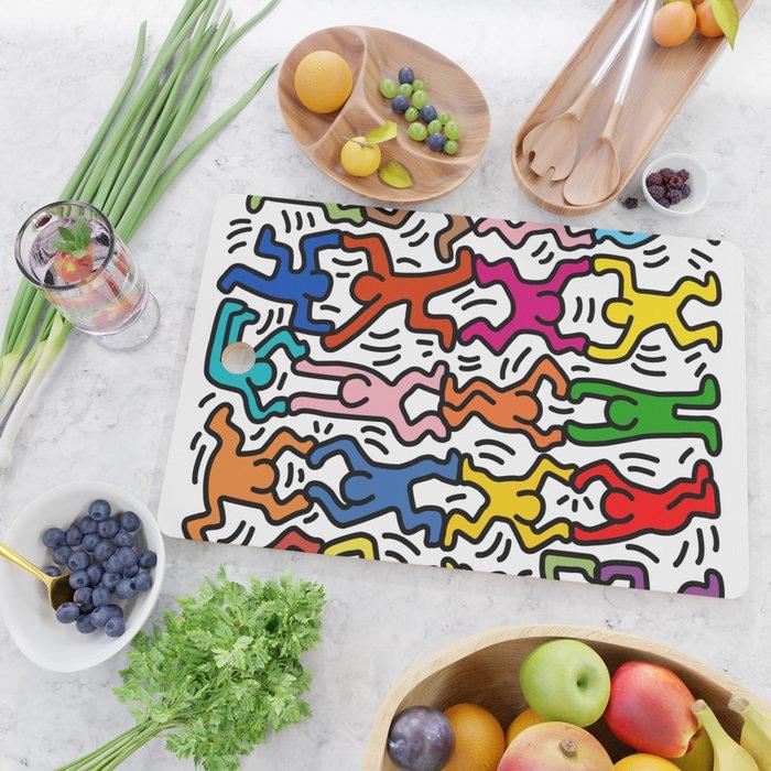 Homage to Keith Haring Acrobats II Cutting Board