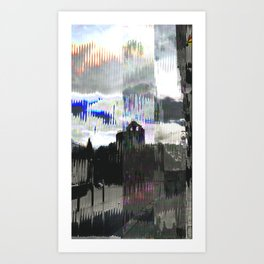 Wednesday 16 January 2013: clattering cleft clinking cloak Art Print