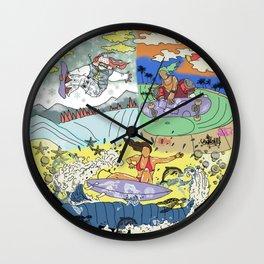 Girls On Boards Wall Clock