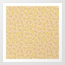 Bloomin' Autumn - yellow flowers Art Print