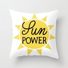 sun power, solar energy Throw Pillow