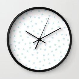 Baby blue stars seamless pattern Wall Clock