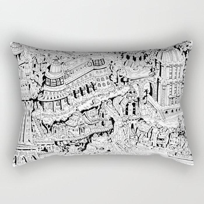 Mumbo Jumbo City Rectangular Pillow