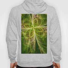 Abstract Lines Green Clover Shape Hoody