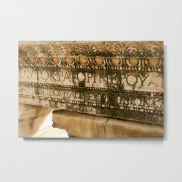Greek Engravings Metal Print