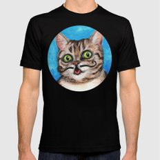 Lil Bub - Cats with Moustaches Mens Fitted Tee Black X-LARGE