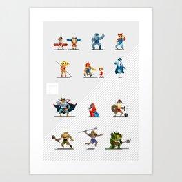 Pixel Art: Thundercts Art Print
