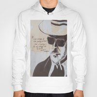 hunter s thompson Hoodies featuring Hunter S. Thompson by Emily Storvold