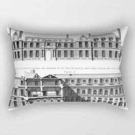Palais-Royal on the rue St. Honoré 1754 Rectangular Pillow