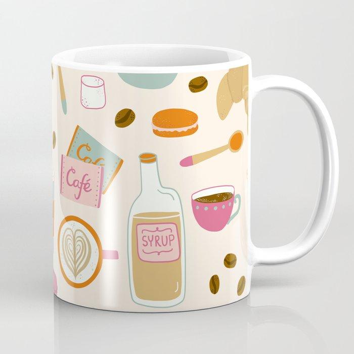Drawing Coffee in a Café Coffee Mug