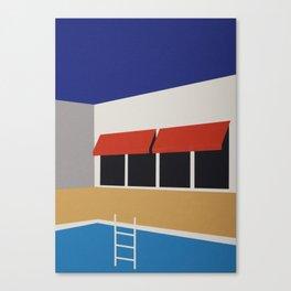 Palm Springs Pool House Canvas Print